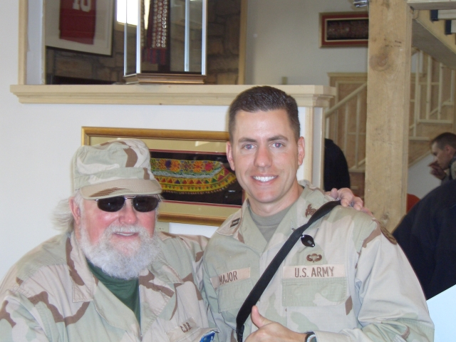 Trace and Charlie Daniels at Bagram